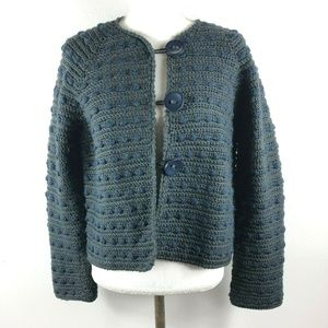 Mark Jacobs Wool Spotted Striped Blue Cardigan